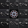 Demon Killer - 8 in 1 Prebuilt Coils set 8 types Pre-Coiled Resistance Wire for RBA Atomizers