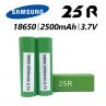 Rechargeable Battery 18650 25R From The Samsung (x1)