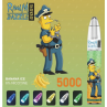 Banana Ice By RandM Dazzle Light Glowing Disposable Vape Device 5000 Puffs