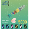 Cotton Pears By RandM Dazzle Light Glowing Disposable Vape Device 5000 Puffs